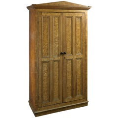 Early Victorian Painted Cupboard Simulating Highly-Figured Maple