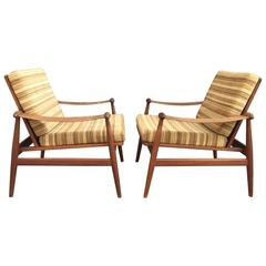 Lounge Chairs Designed by Finn Juhl for France & Son