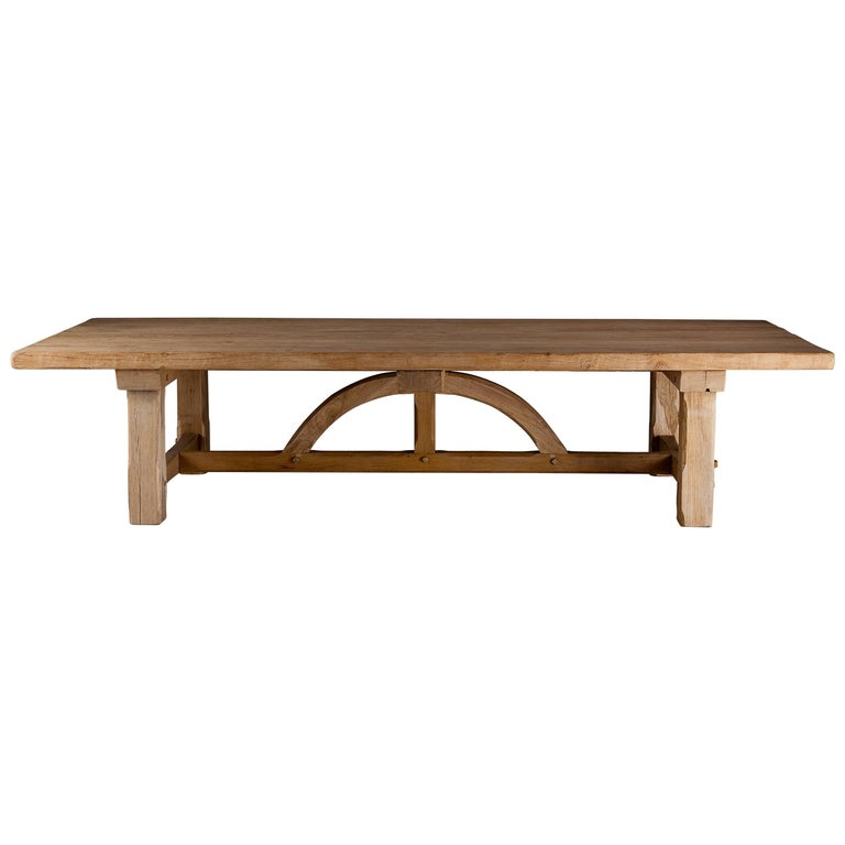 Bespoke French Oak Pugin Table For Sale