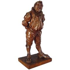 19th Century Italian Carved Walnut 'Gobbo' Sculpture