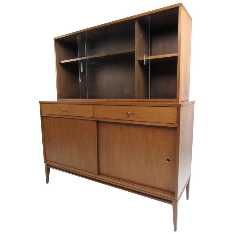 Paul McCobb Planner Group Sideboard and China Cabinet