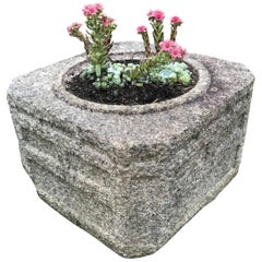 Japan Hand-Carved Stone Water Basin/Planter Art Deco Treasure
