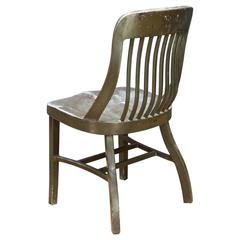 1930s US Barracks Metal Early Goodform Chair by General Fireproofing