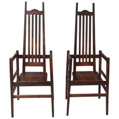 ARMCHAIRS C F Voysey Oak Arts And Crafts  & CRAFTS