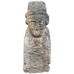 Korea Ancient Stone Guardian Figure, Early Joseon Dynasty, 1450 AD