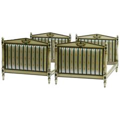 Pair of Twin Beds Daybeds Vintage Directoire French Empire Revival, 20th Century