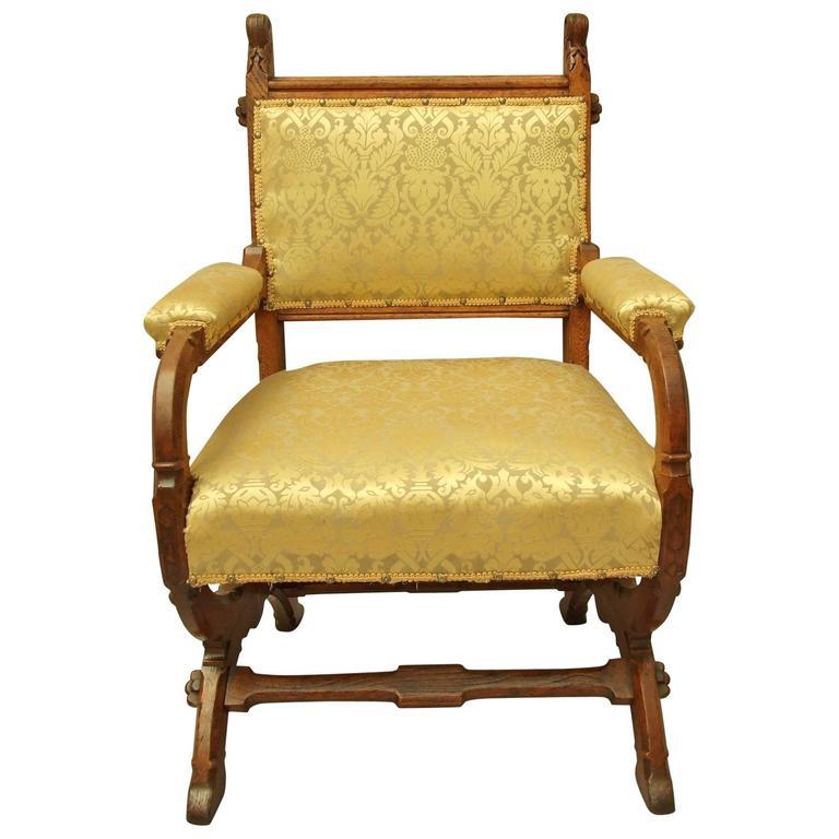 GOTHIC Reform Oak Armchair A W N Pugin