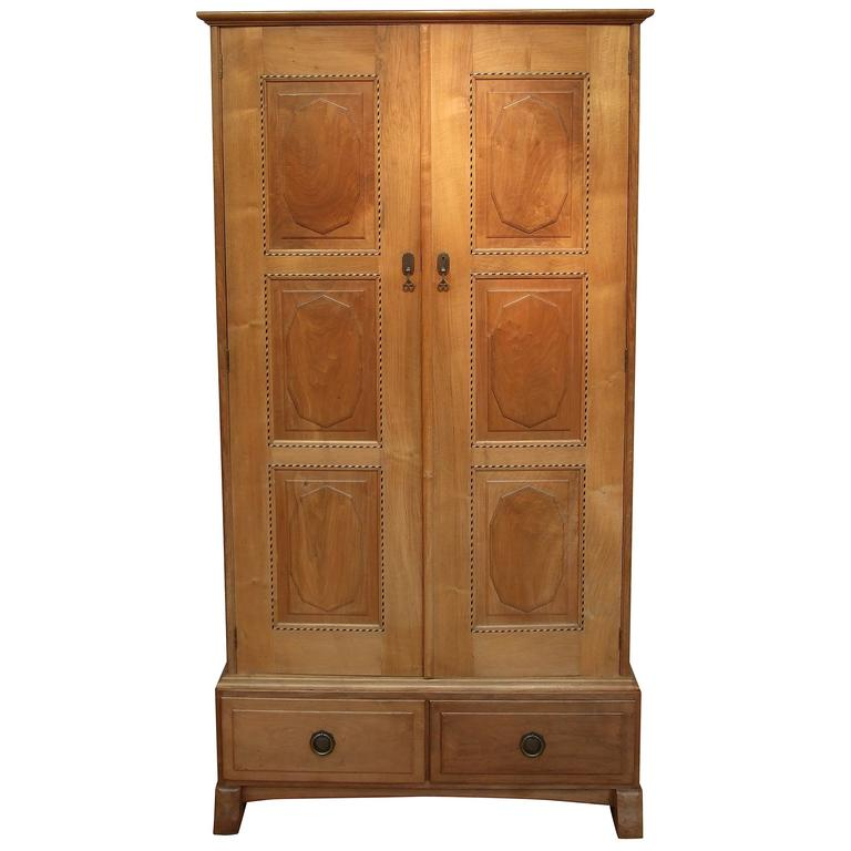 PETER WAALS Arts And Crafts Cotswold School Walnut Wardrobe