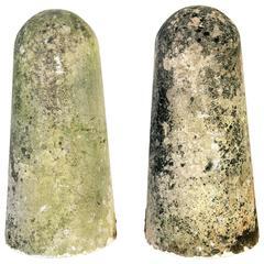 Pair of Limestone Finials