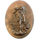 """""""Twelfth Labor of Hercules,"""" Bronze Relief Panel Depicting Hercules & Cerberus"""