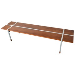 Walnut and Aluminum Coffee Table by Selig