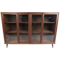 Vintage Walnut China Cabinet or Bookcase