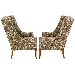 Pair of Low-Arm Wing Chairs in Grosfeld House Manner