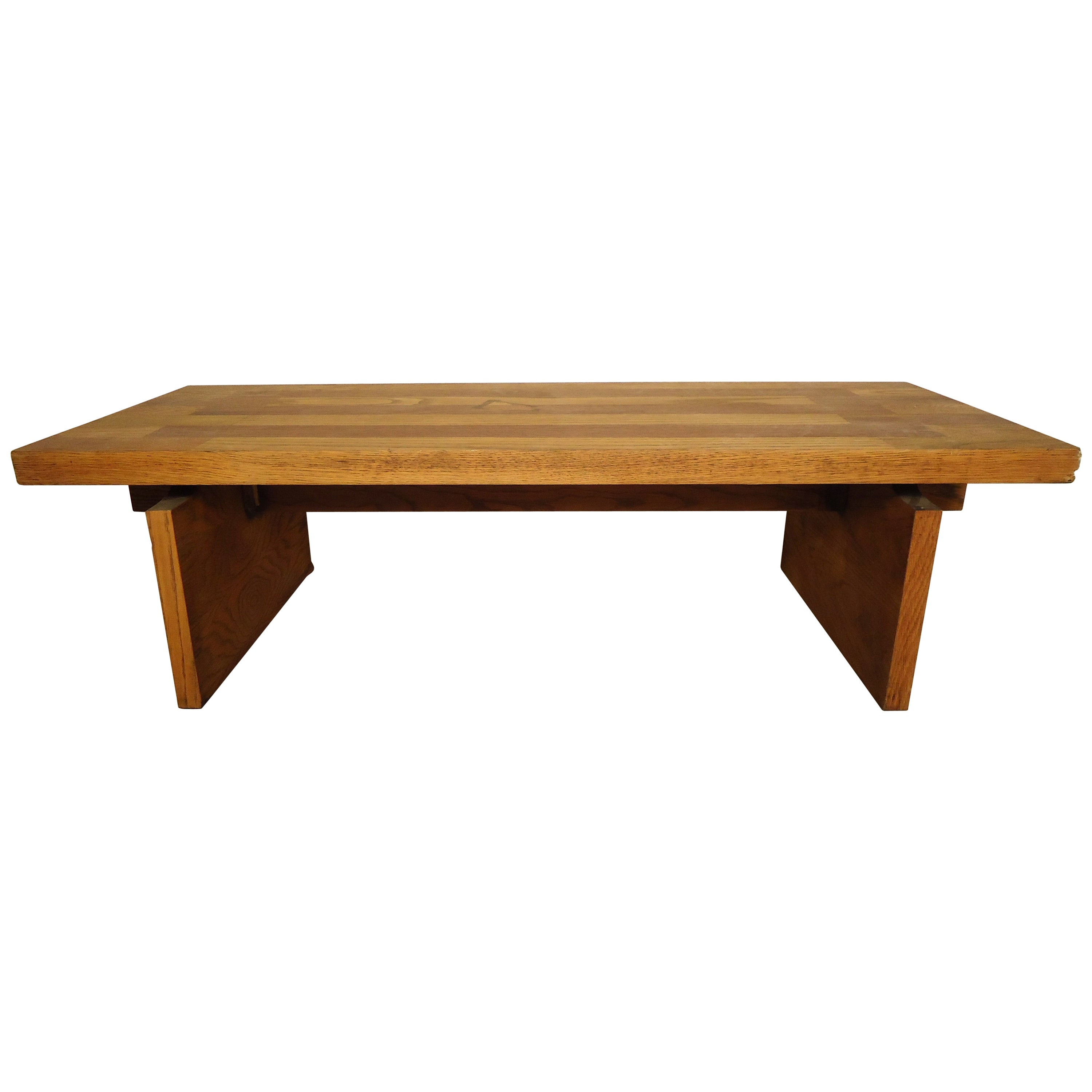 Mid-Century Modern Floating Top Coffee Table