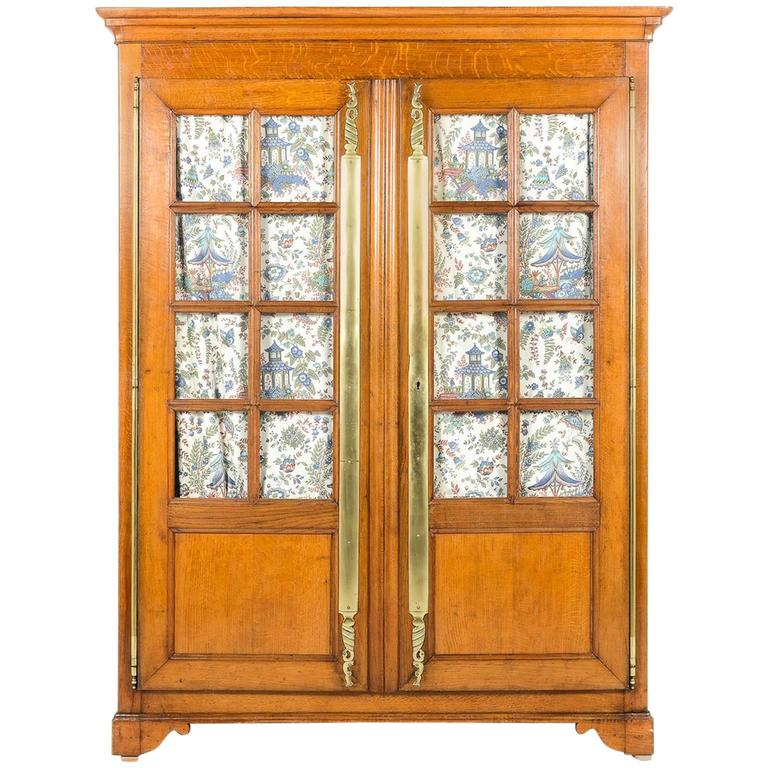 19th Century French Solid Oak Two-Door Armoire, circa 1870