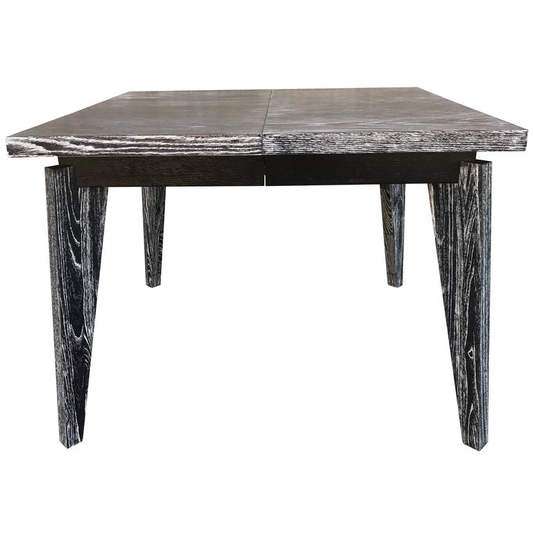 square extendable table on the style of jean prouve for sale at