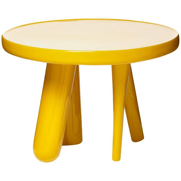 Moooi Elements 002 Table by Jaime Hayon in Yellow, Light Grey or Dark Grey For Sale