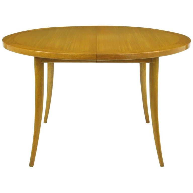 Harvey Probber Bleached Mahogany Saber Leg Dining Table For Sale