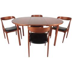 Stylish Mid-Century Modern Walnut Dining Set