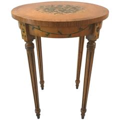 Adam Style Satinwood Painted Drinks Table