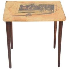 Italian Mid-Century Modern Aldo Tura Side Table, Goatskin