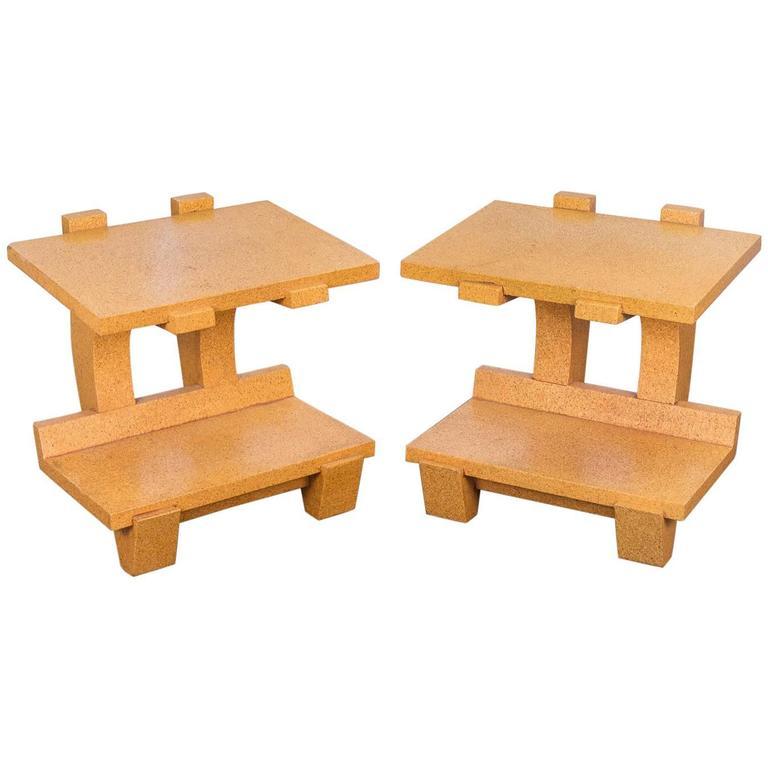 Kevin Walz Cork Side Tables