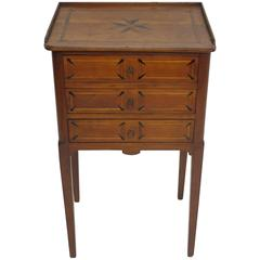Neoclassical Inlaid Cherrywood Three-Drawer Side Cabinet French, 19th Century