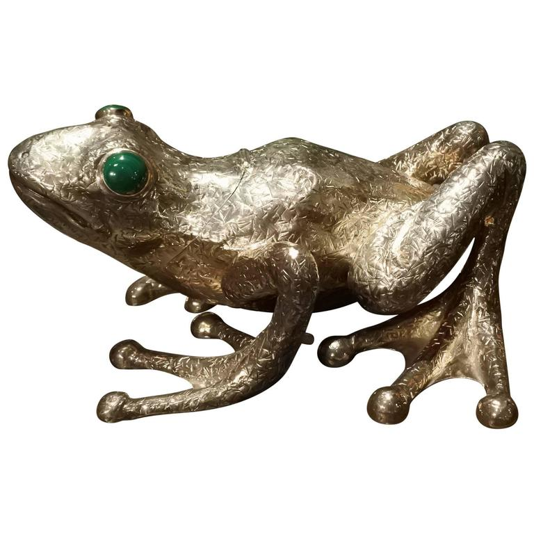 Sterling Silver, Cartier Frog Box 1