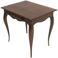 Oak Childs Table with Single Drawer, French, 19th Century
