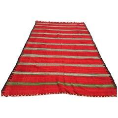 Moroccan Vintage Flat-Weave Rug