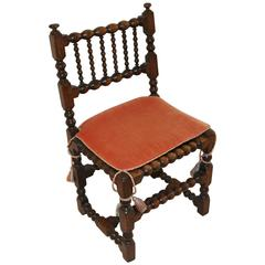 Very Early English Chair with Contemporary Cushion
