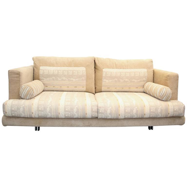 Settee or Love Seat by Giorgio Saporiti for His Firm Il Loft in Original Fabric