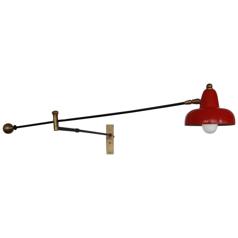 Italian Articulating Sconce For Sale