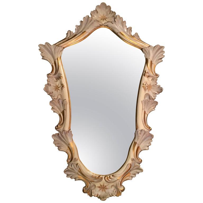 Italian Majolica Mirror