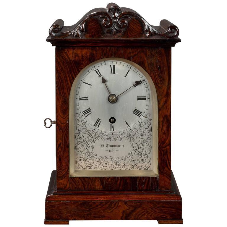 Victorian Miniature Rosewood Bracket Clock At 1stdibs
