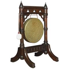 Gothic Revival Oak Dinner Gong