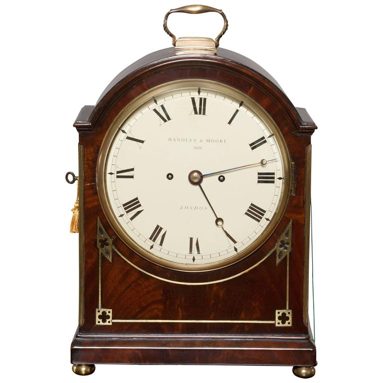 Georgian Bracket Clock By Handley And Moore London At 1stdibs