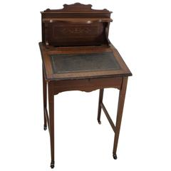 19th Century Victorian Wooden Writing Desk with Lift Top