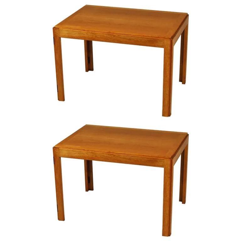 1960s, Børge Mogensen Model 5383 Oak Side Tables