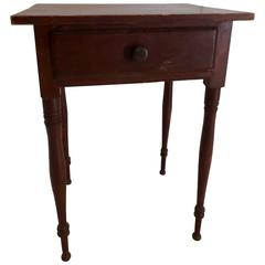 Late 19th Century Primitive Red Working Table