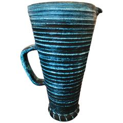 Beautiful Accolay Ceramic Pitcher, circa 1960