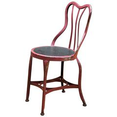 1920s Toledo Art Metal Company Ice Cream Cafe Accent Chair