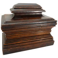 Vintage Walnut Dresser Box