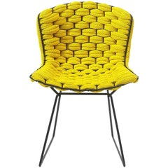 Bertoia Yellow Loom Chair by Clément Brazille, Made in France