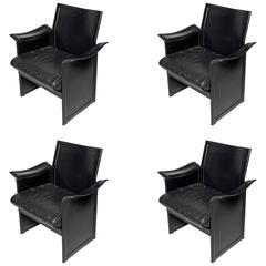Korium Leather Armchairs, by Tito Agnoli for Matteo Grassi