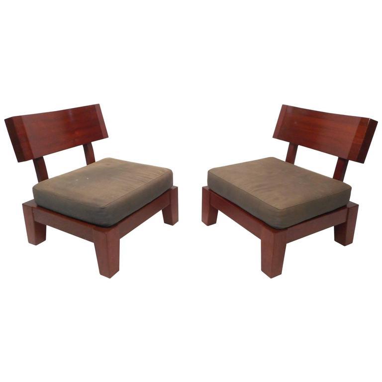 Impressive Pair of Mid-Century Modern Lounge Chairs