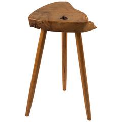 George Nakashima Wepman Side Table in French Olive Ash and Hickory