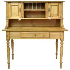 19th Century Antique European Pine Writing Table or Desk