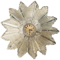 1930s Silvered Starburst Clock or Mirror
