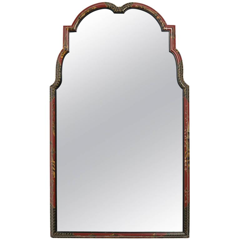 1940s Painted Chinoiserie Mirror